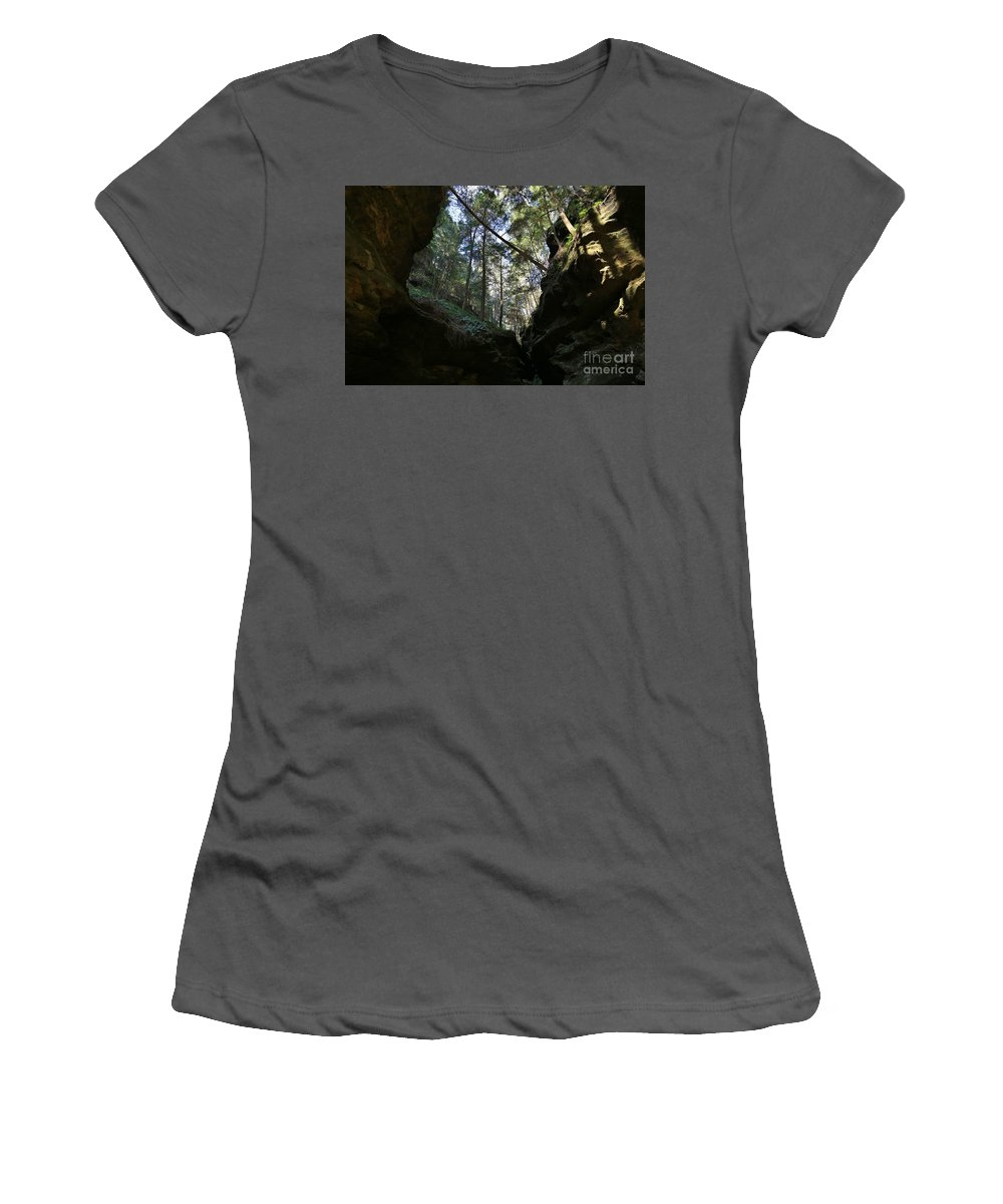 Nature Women's T-Shirt (Athletic Fit) featuring the photograph Hocking Hills by Douglas Sacha