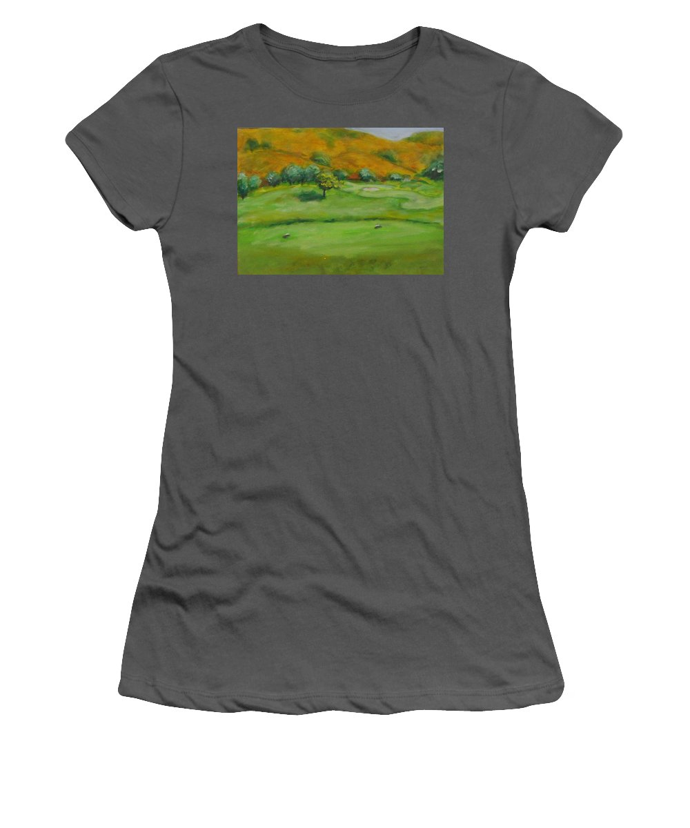 Golf Women's T-Shirt (Athletic Fit) featuring the painting Hole 4 Outward Bound by Shannon Grissom