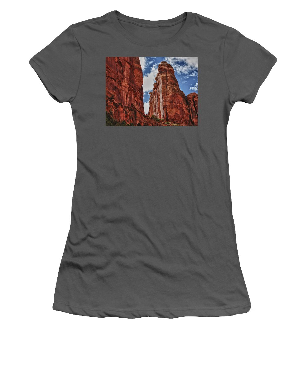 High Women's T-Shirt (Athletic Fit) featuring the digital art Hole In The Wall by Gary Baird