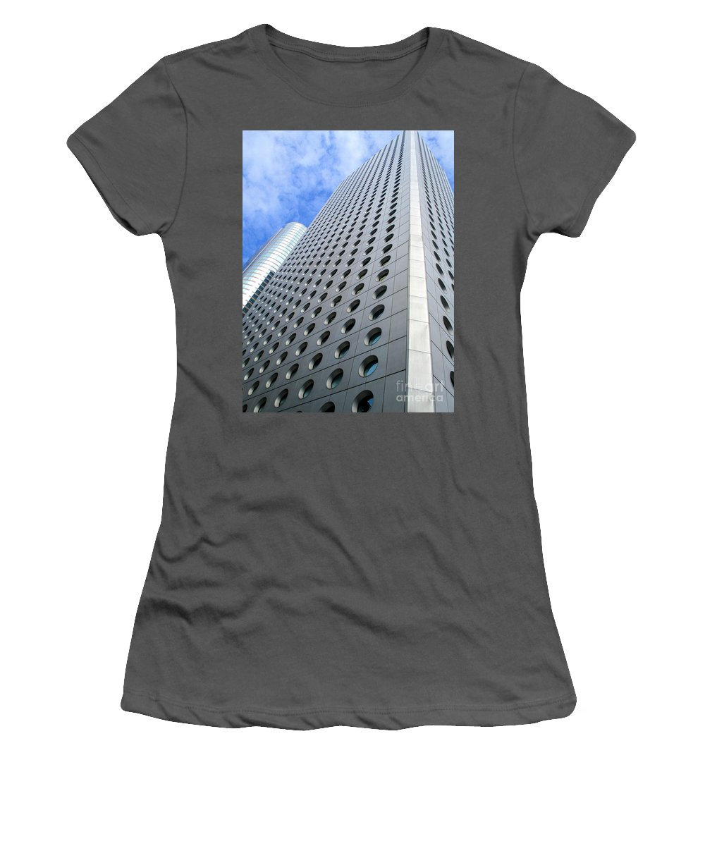 Hong Kong Women's T-Shirt (Athletic Fit) featuring the photograph Hong Kong Architecture 38 by Randall Weidner