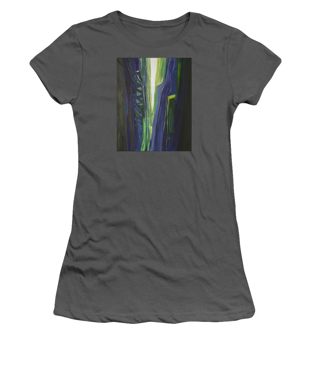 Landscape Women's T-Shirt (Athletic Fit) featuring the painting Hope. by Jarle Rosseland