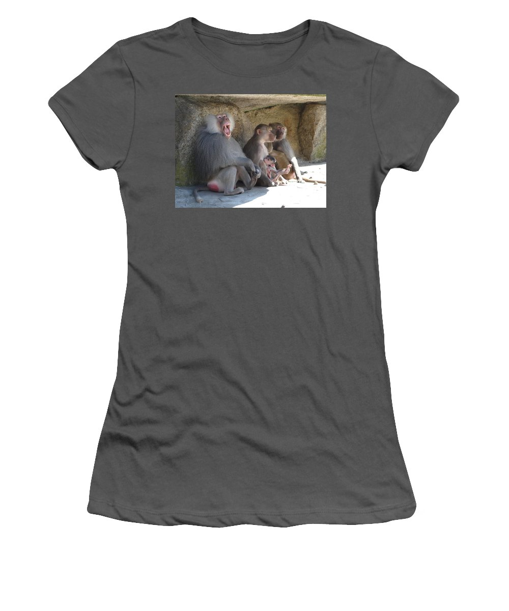 Animal Women's T-Shirt (Athletic Fit) featuring the photograph I Am The King Here by Valerie Ornstein
