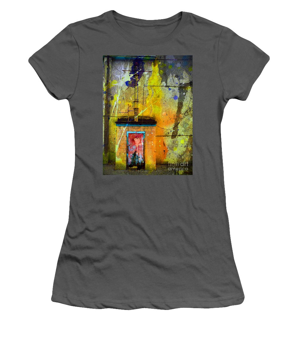 Door Women's T-Shirt (Athletic Fit) featuring the photograph I Wear My Heart On The The Door by Tara Turner