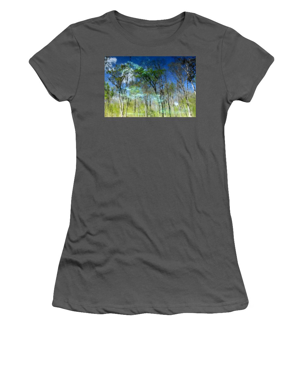 River Women's T-Shirt (Athletic Fit) featuring the photograph Ichetucknee Reflections by David Lee Thompson