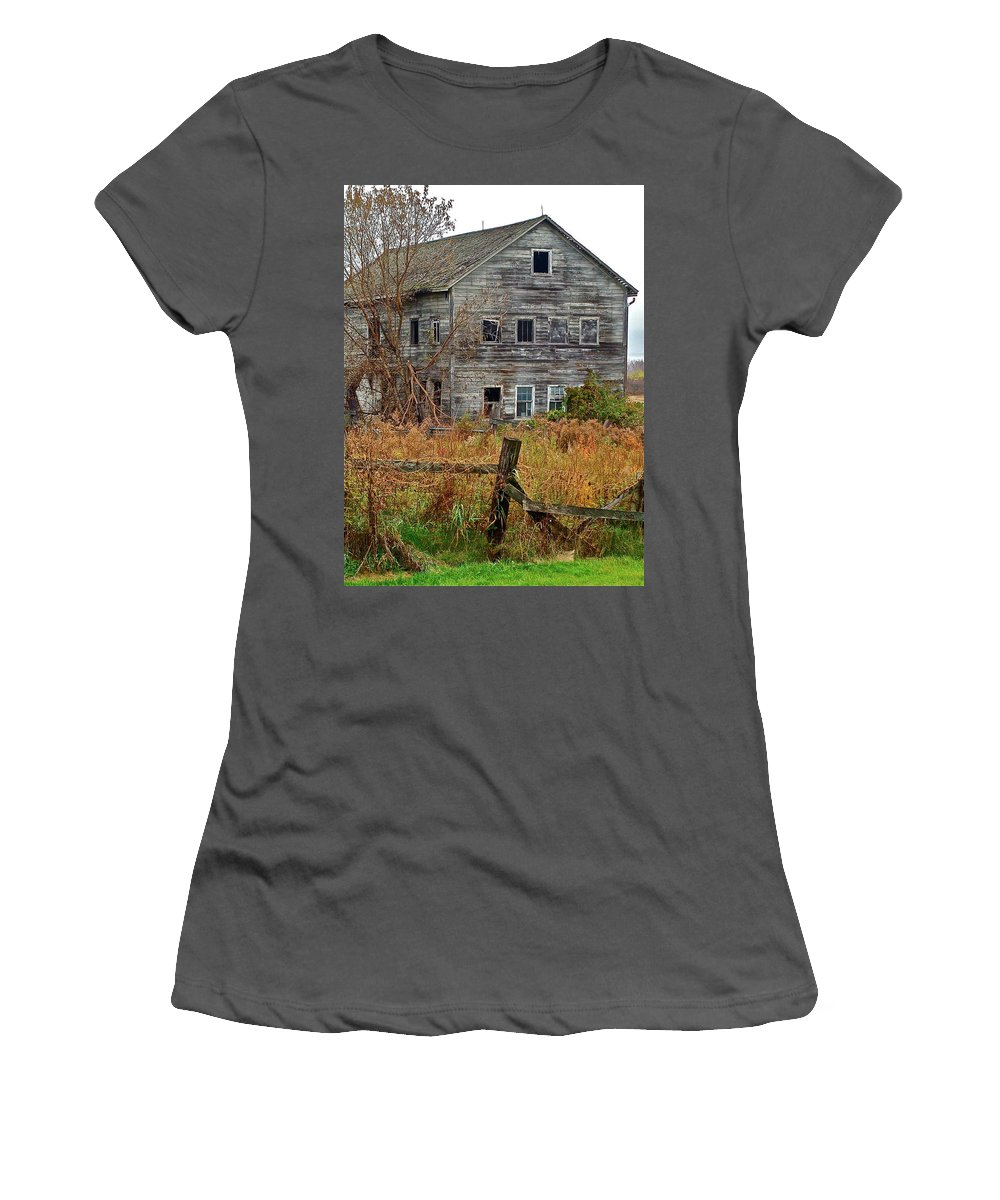 Country Women's T-Shirt (Athletic Fit) featuring the photograph If It Could Talk by Diana Hatcher
