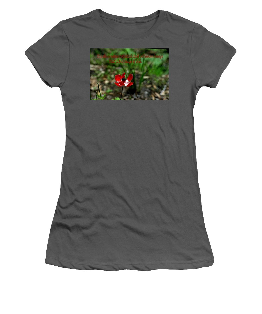 Inspirational Women's T-Shirt (Athletic Fit) featuring the photograph Image Of God by Gary Wonning