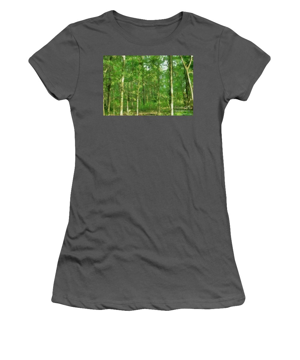 Photograph Women's T-Shirt (Athletic Fit) featuring the painting In The Thick Of Things by Paulette B Wright