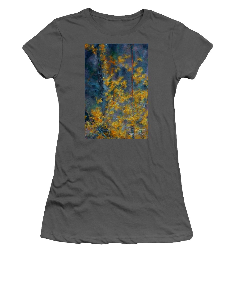 Women's T-Shirt (Athletic Fit) featuring the photograph In The Woods by David Lane