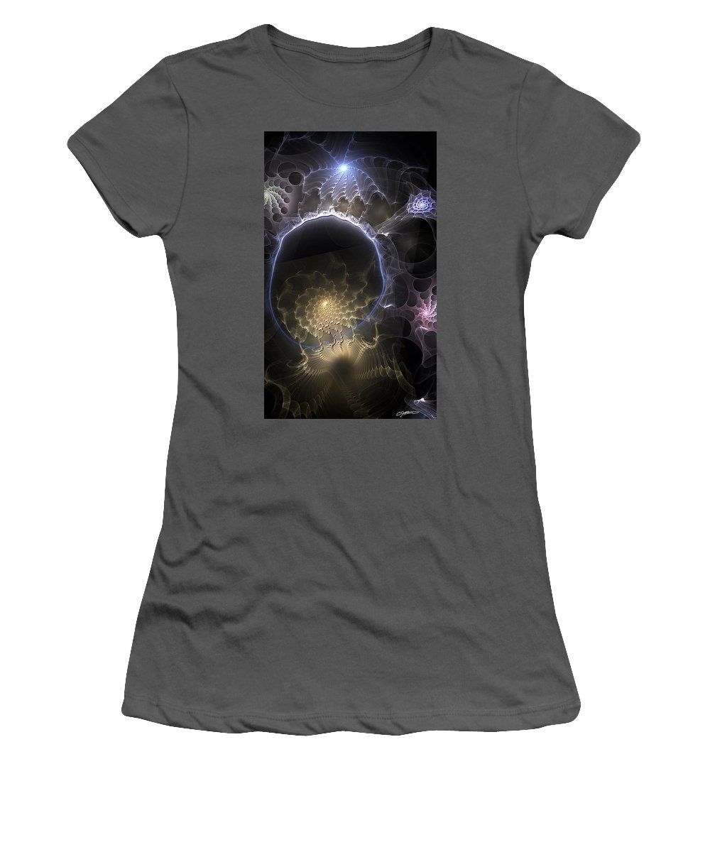 Abstract Women's T-Shirt (Athletic Fit) featuring the digital art Indefinable Expressions by Casey Kotas