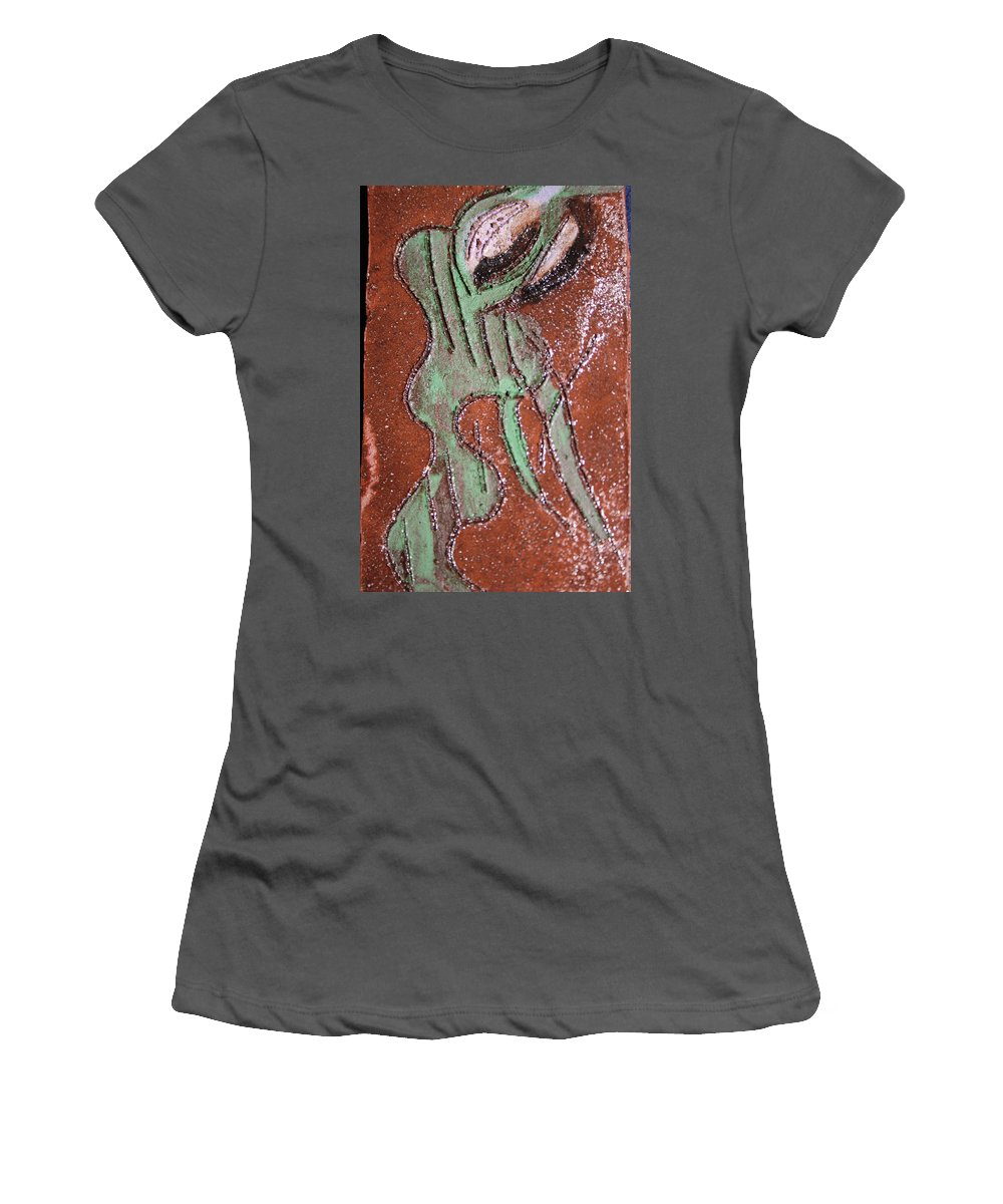 Gloria Ssali Women's T-Shirt (Athletic Fit) featuring the painting Insect Tile by Gloria Ssali
