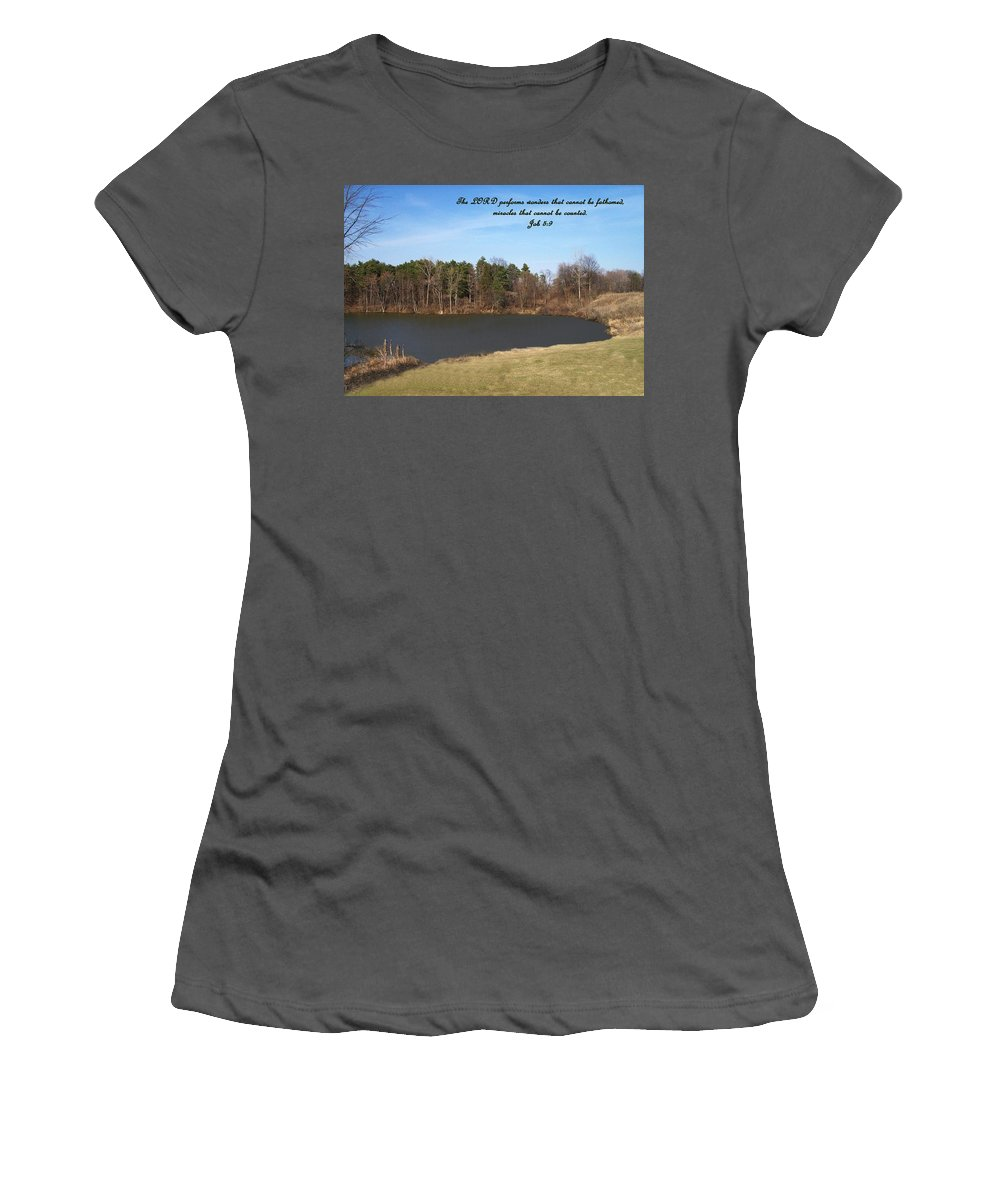Lake Women's T-Shirt (Athletic Fit) featuring the photograph Inspirations 10 by Sara Raber