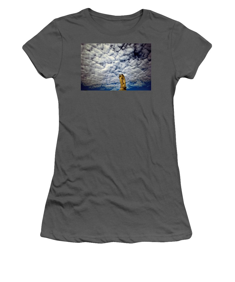 Angel Women's T-Shirt (Athletic Fit) featuring the photograph Into The Firmanent by Wayne Sherriff