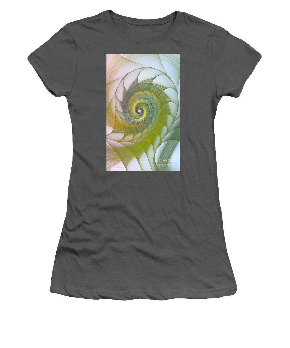 Fractal Women's T-Shirt (Athletic Fit) featuring the photograph Into The Inner Kingdom by Deborah Benoit