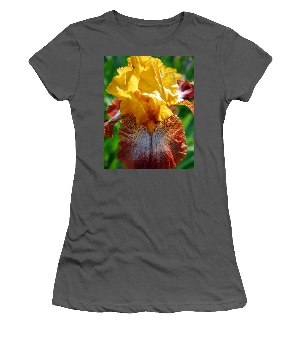 Flower Women's T-Shirt (Athletic Fit) featuring the photograph Iris 1 by Amy Fose