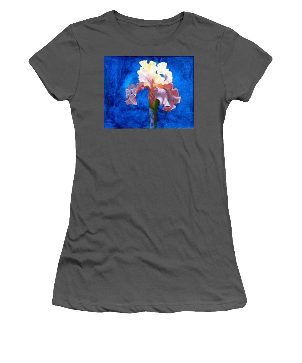 Iris Women's T-Shirt (Athletic Fit) featuring the painting Iris by Richard Le Page