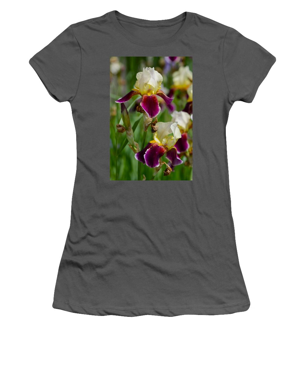 Nature Women's T-Shirt (Athletic Fit) featuring the photograph Iris Spring by Karon Melillo DeVega