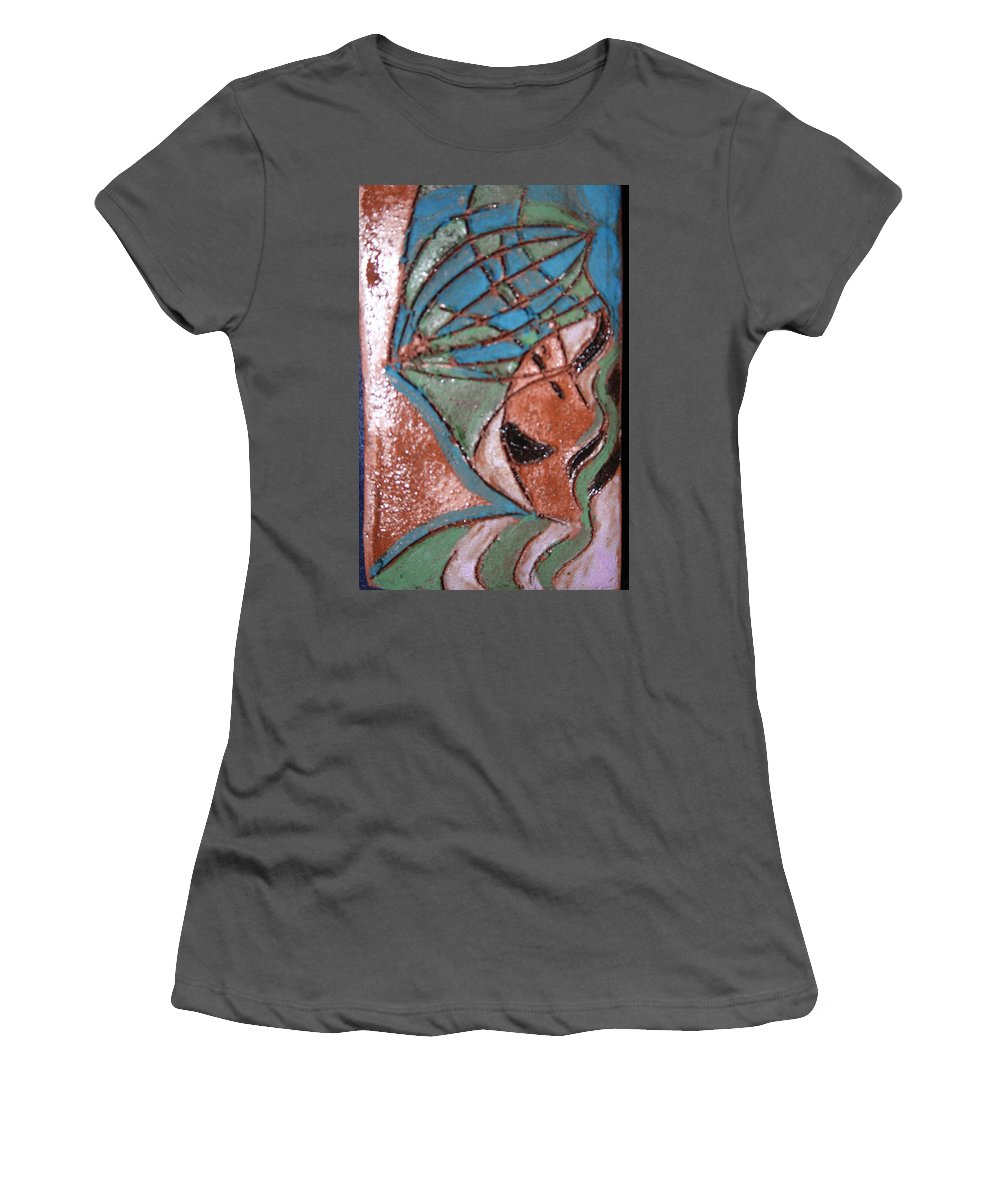 Gloria Ssali Women's T-Shirt (Athletic Fit) featuring the painting Is That My Hat Tile by Gloria Ssali