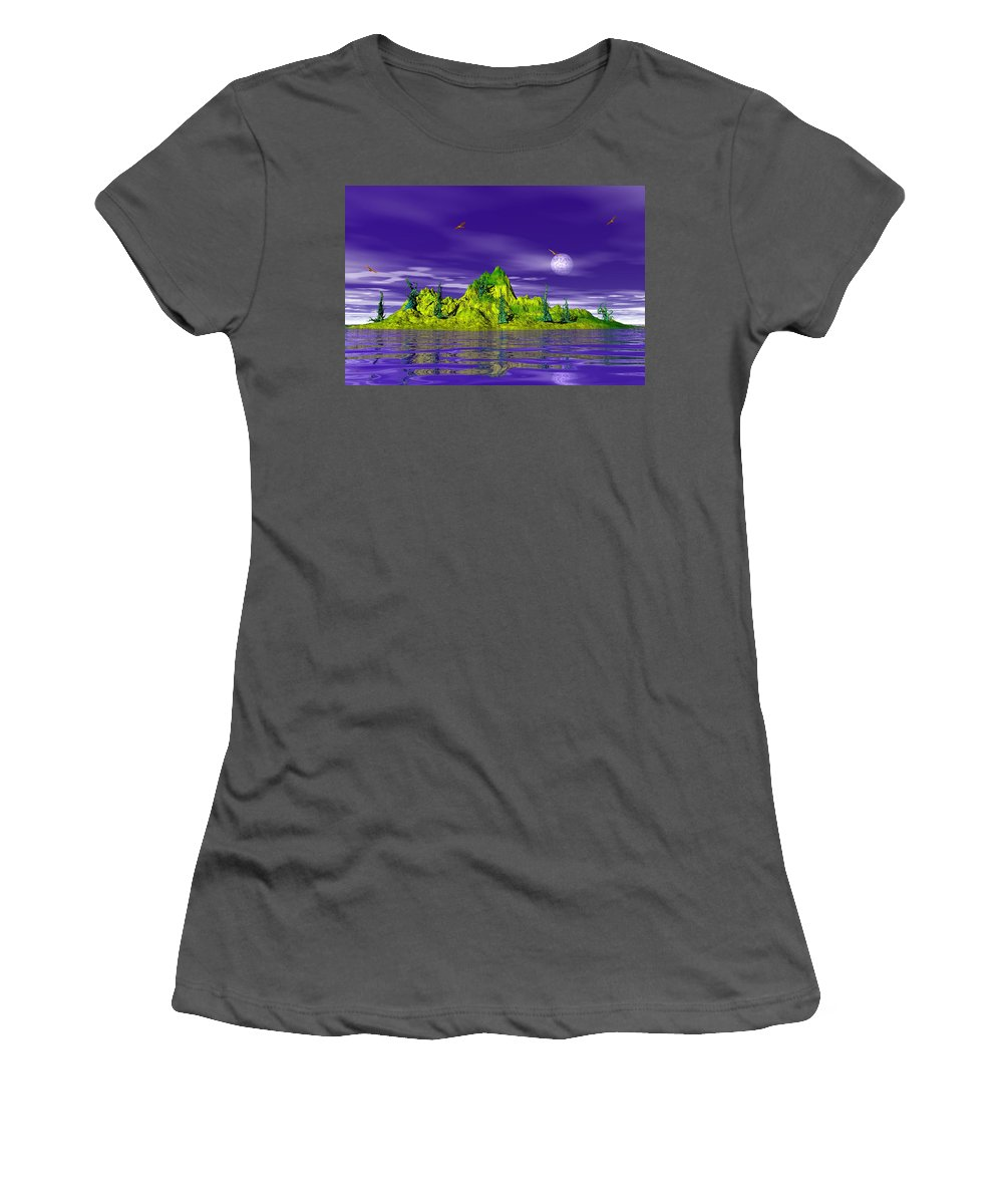 Seascape Women's T-Shirt (Athletic Fit) featuring the photograph Island Life by Mark Blauhoefer