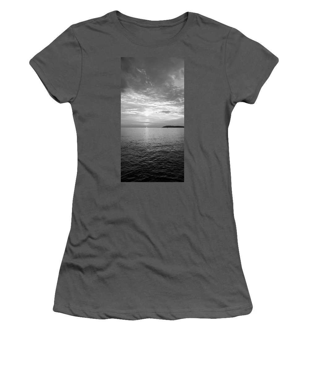 Sea Women's T-Shirt (Athletic Fit) featuring the photograph Istrian Peninsula by Ian Middleton