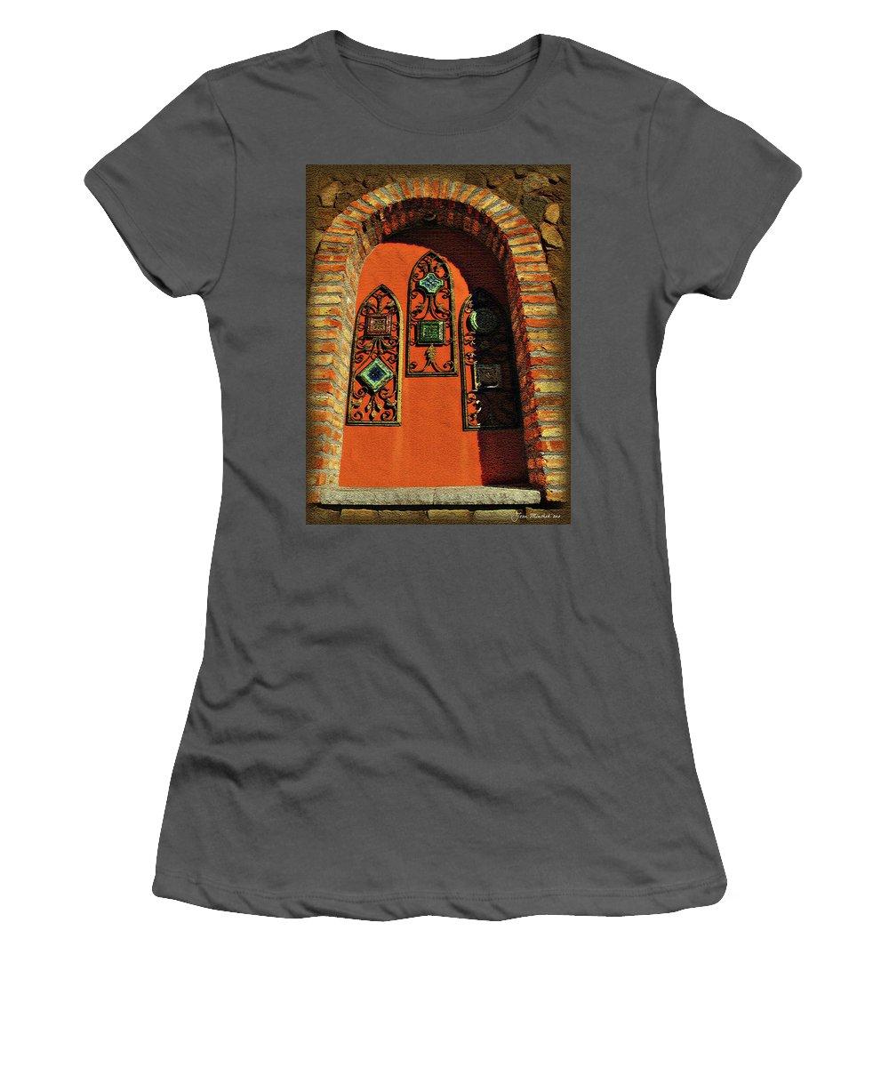 Window Women's T-Shirt (Athletic Fit) featuring the digital art Italian Window by Joan Minchak