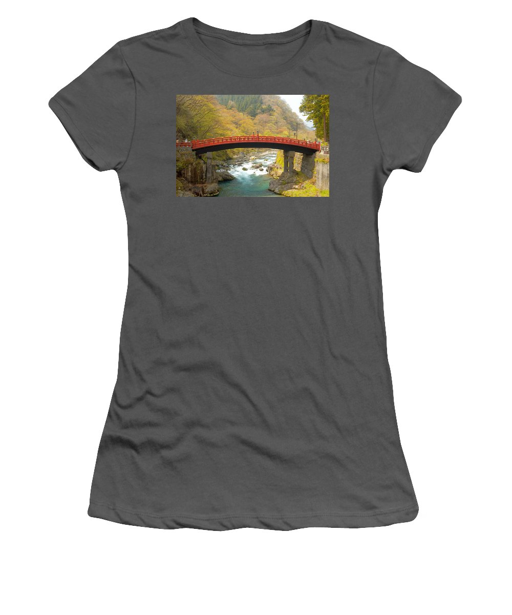 Japan Women's T-Shirt (Athletic Fit) featuring the photograph Japanese Bridge by Sebastian Musial
