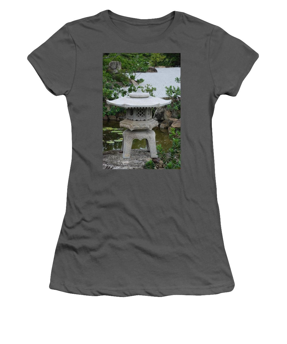 Rocks Women's T-Shirt (Athletic Fit) featuring the photograph Japanese Lantern by Rob Hans
