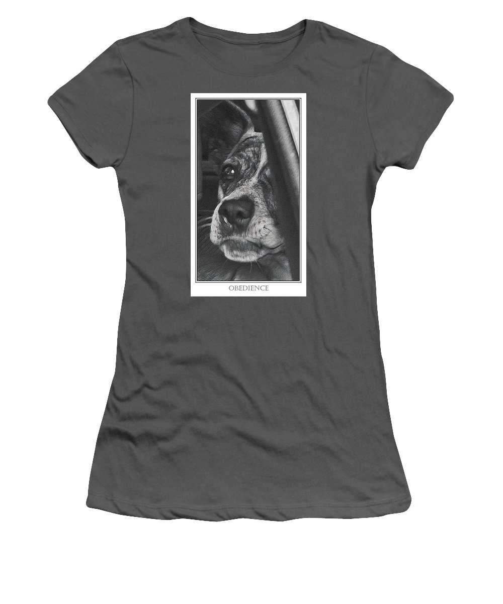 Dog Women's T-Shirt (Athletic Fit) featuring the photograph Jazz by Karen W Meyer