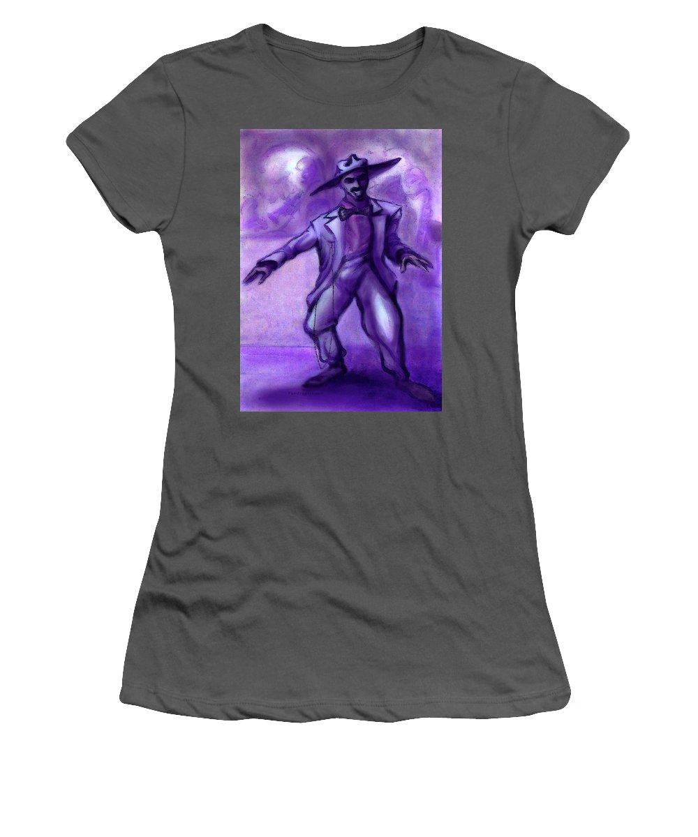 Jazz Women's T-Shirt (Athletic Fit) featuring the painting Jazzy by Kevin Middleton