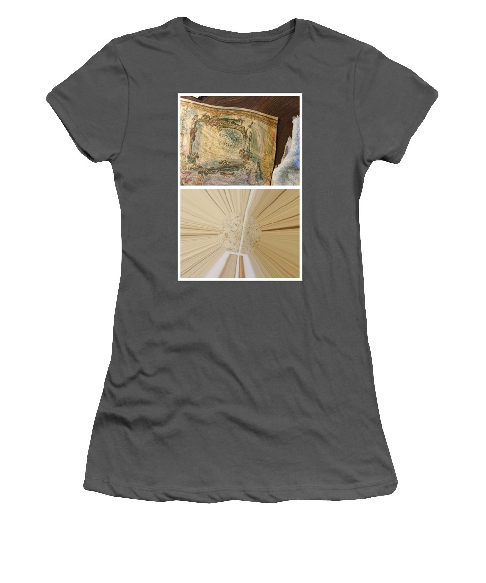 Abstract Women's T-Shirt (Athletic Fit) featuring the photograph Jersey Bounce by Alwyn Glasgow