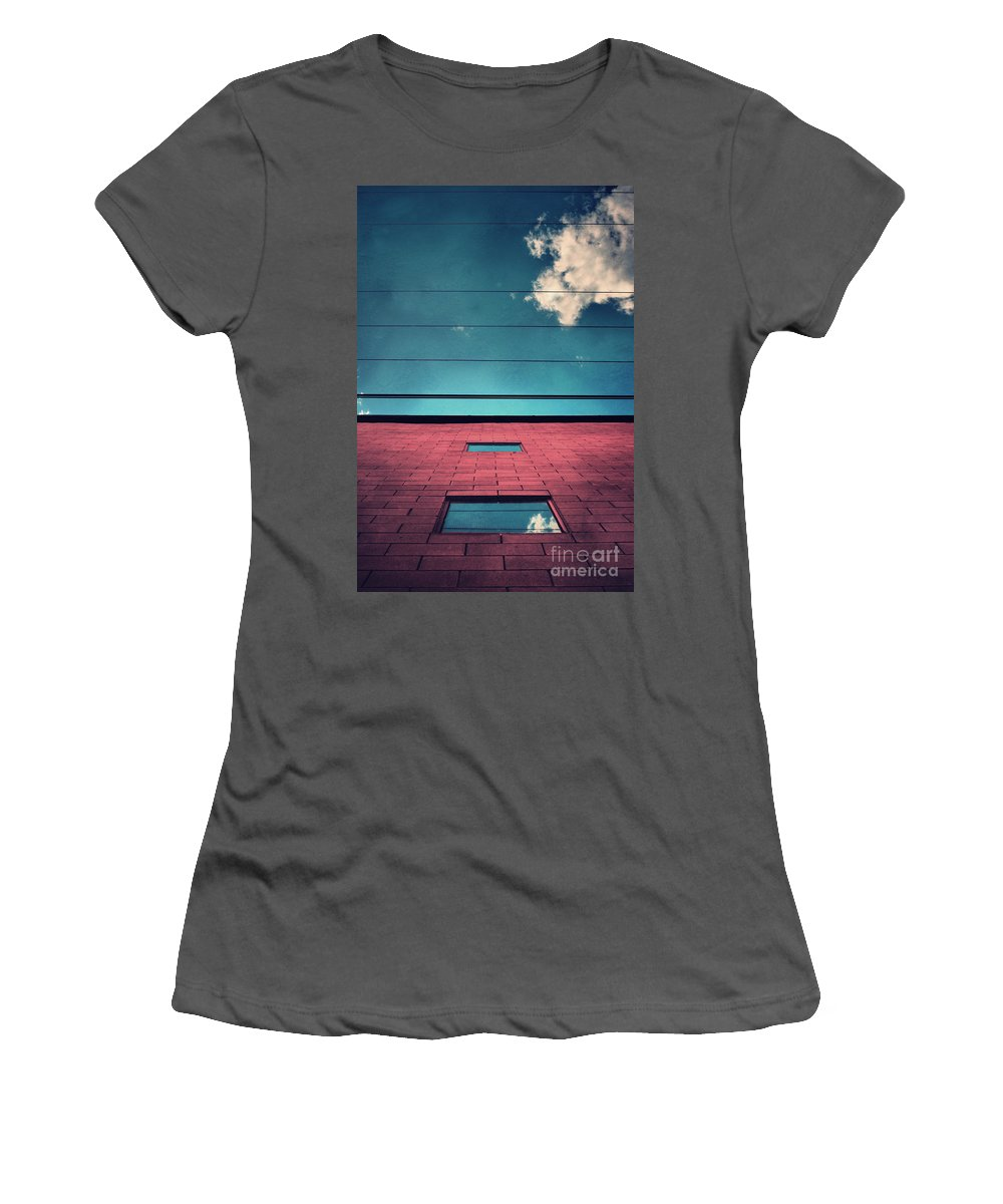 Windows Women's T-Shirt (Athletic Fit) featuring the photograph June 25 2010 by Tara Turner