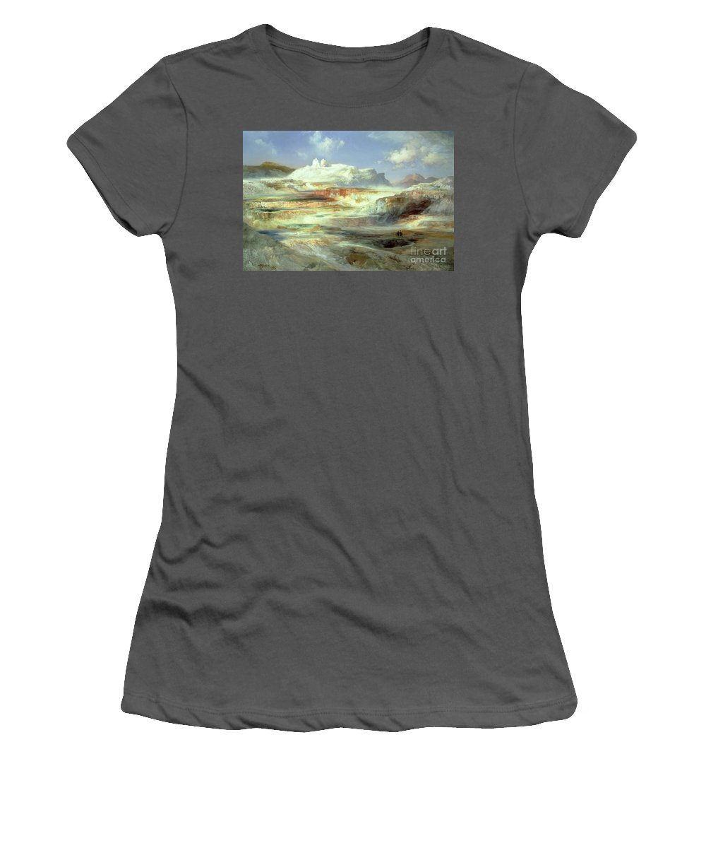Jupiter Terrace Women's T-Shirt (Athletic Fit) featuring the painting Jupiter Terrace by Thomas Moran