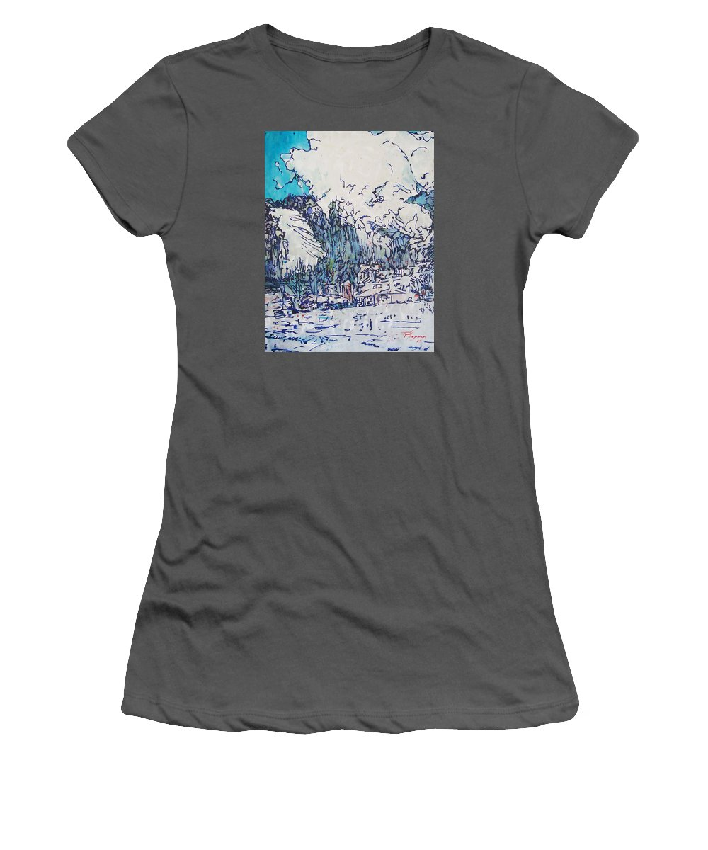 Painting Women's T-Shirt (Athletic Fit) featuring the painting Jupiter by Thaddeus Chapman