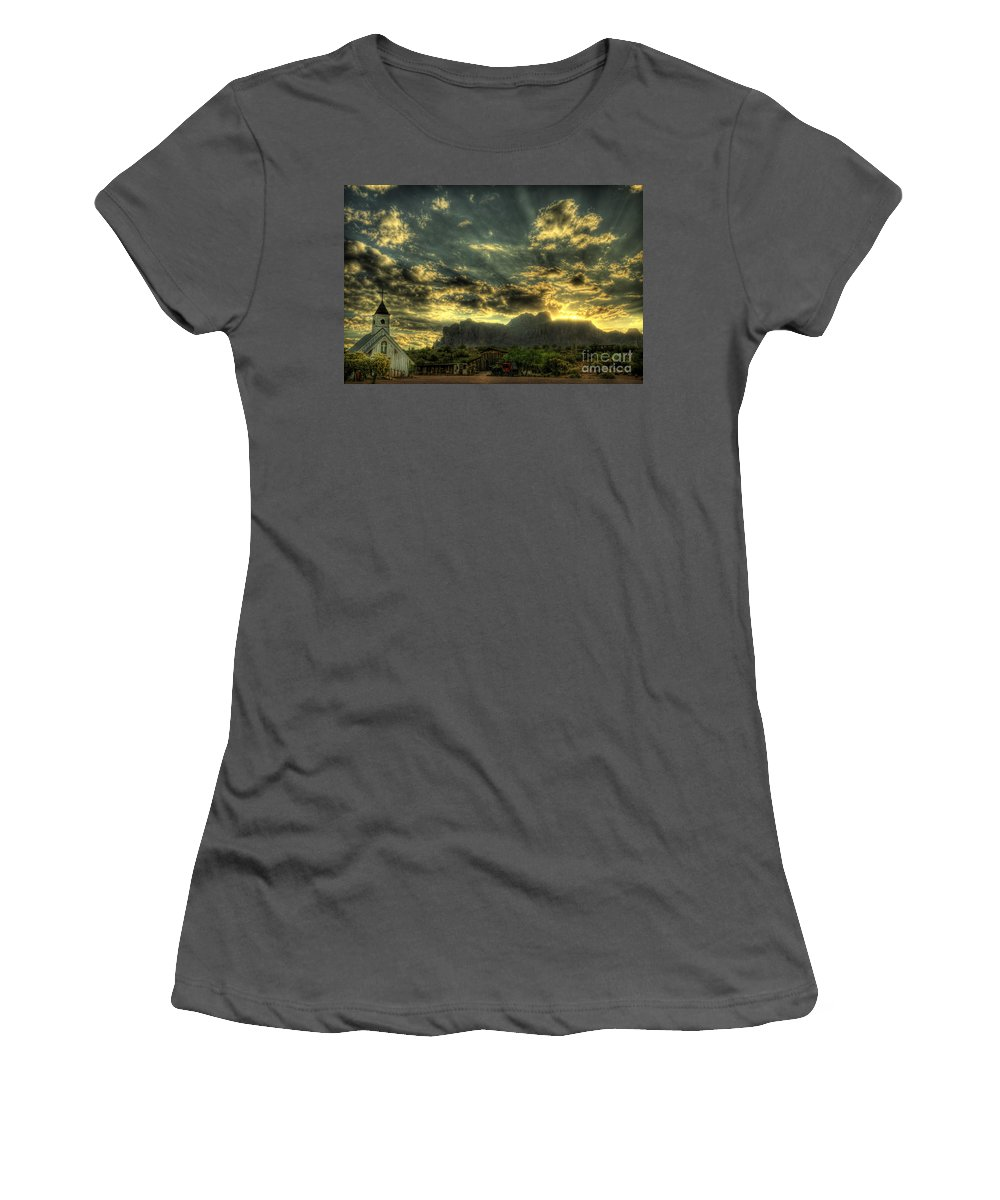 Arizona Women's T-Shirt (Athletic Fit) featuring the photograph Just Over The Hill by Saija Lehtonen