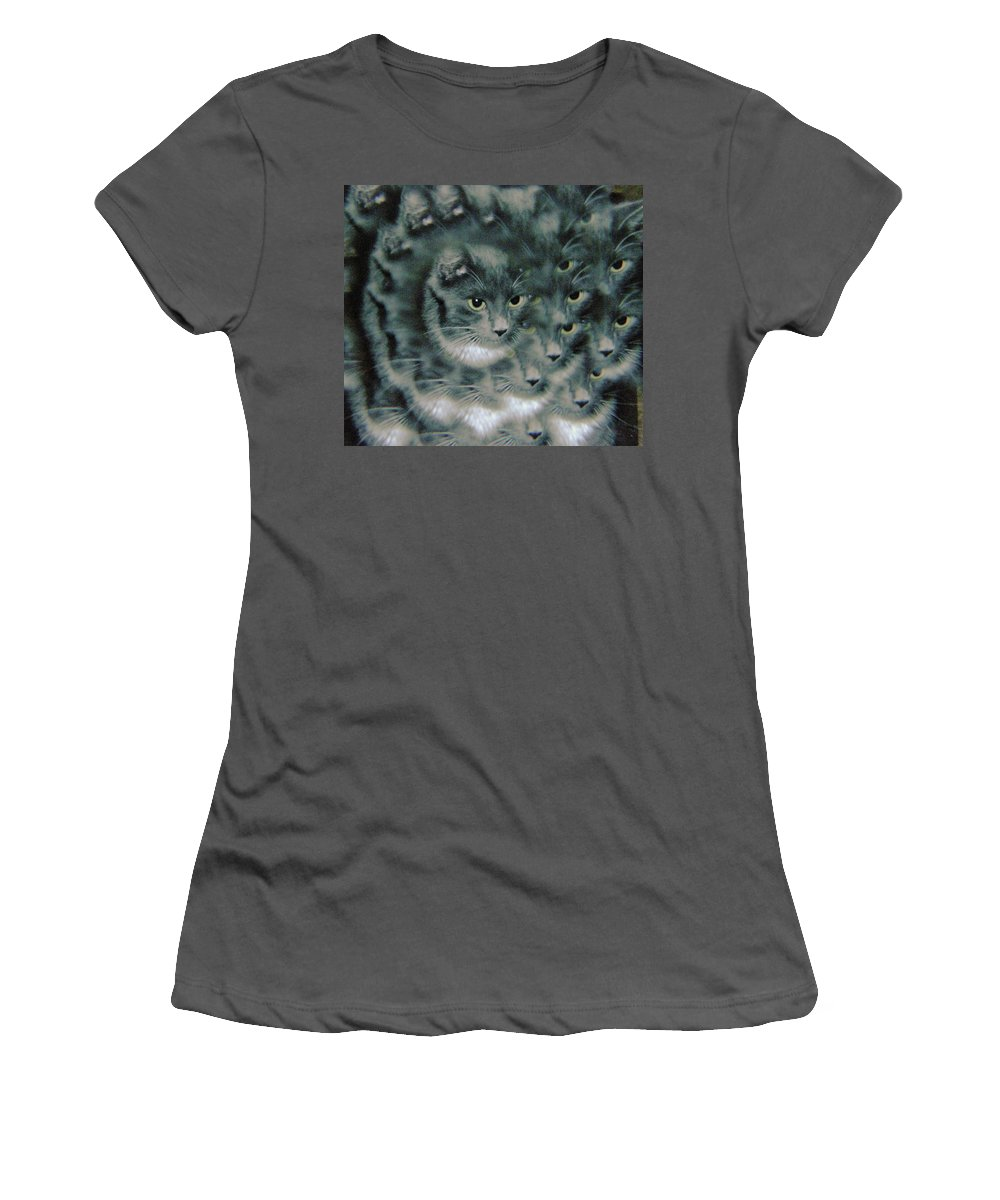 Cats Women's T-Shirt (Athletic Fit) featuring the photograph Kitty Portrait by Jeff Swan