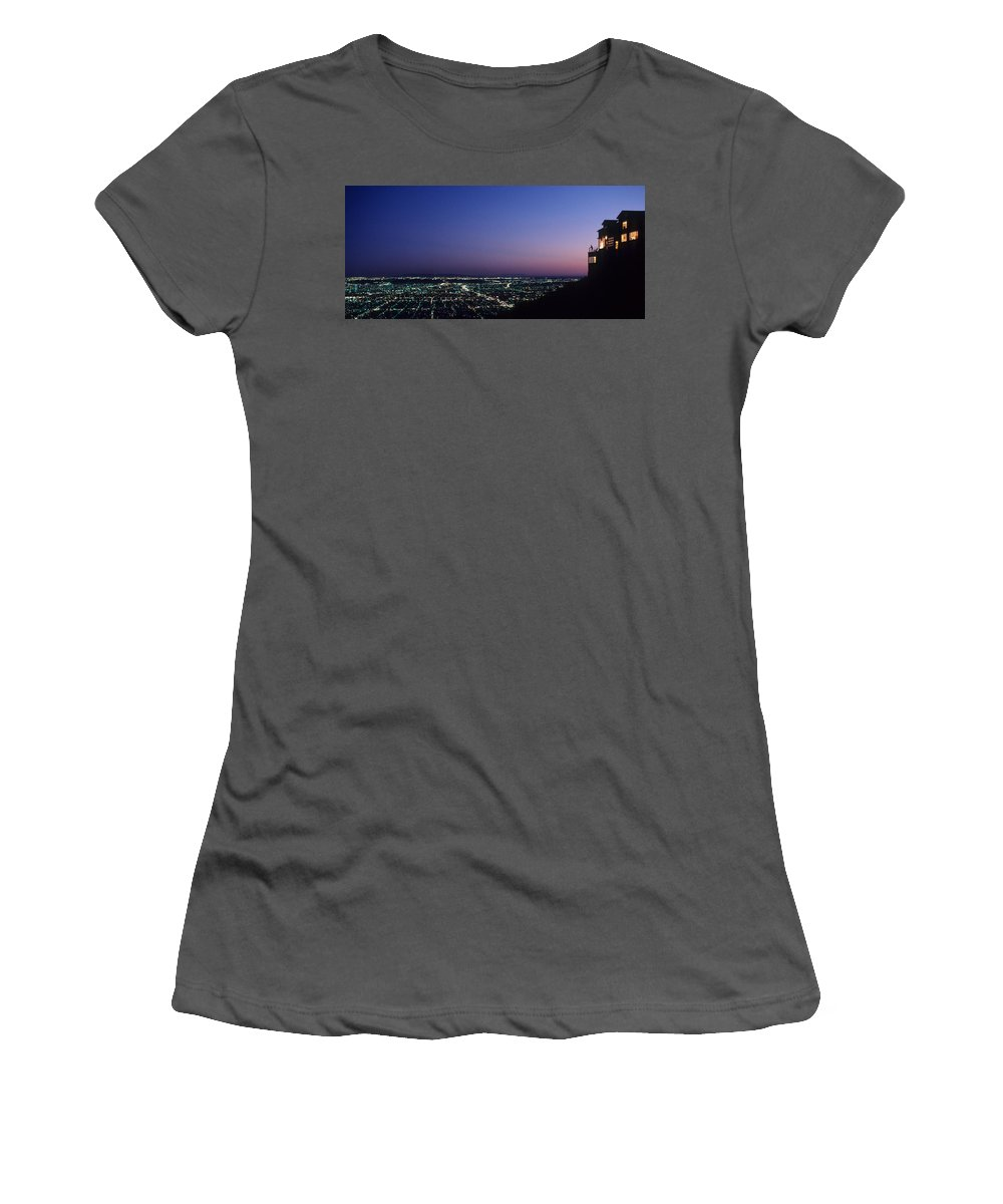 Los Angeles Women's T-Shirt (Athletic Fit) featuring the photograph L.a. Sunset by Steve Williams