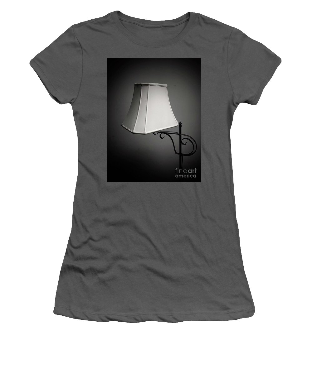 Lamp Women's T-Shirt (Athletic Fit) featuring the photograph Lamp by John Donnery