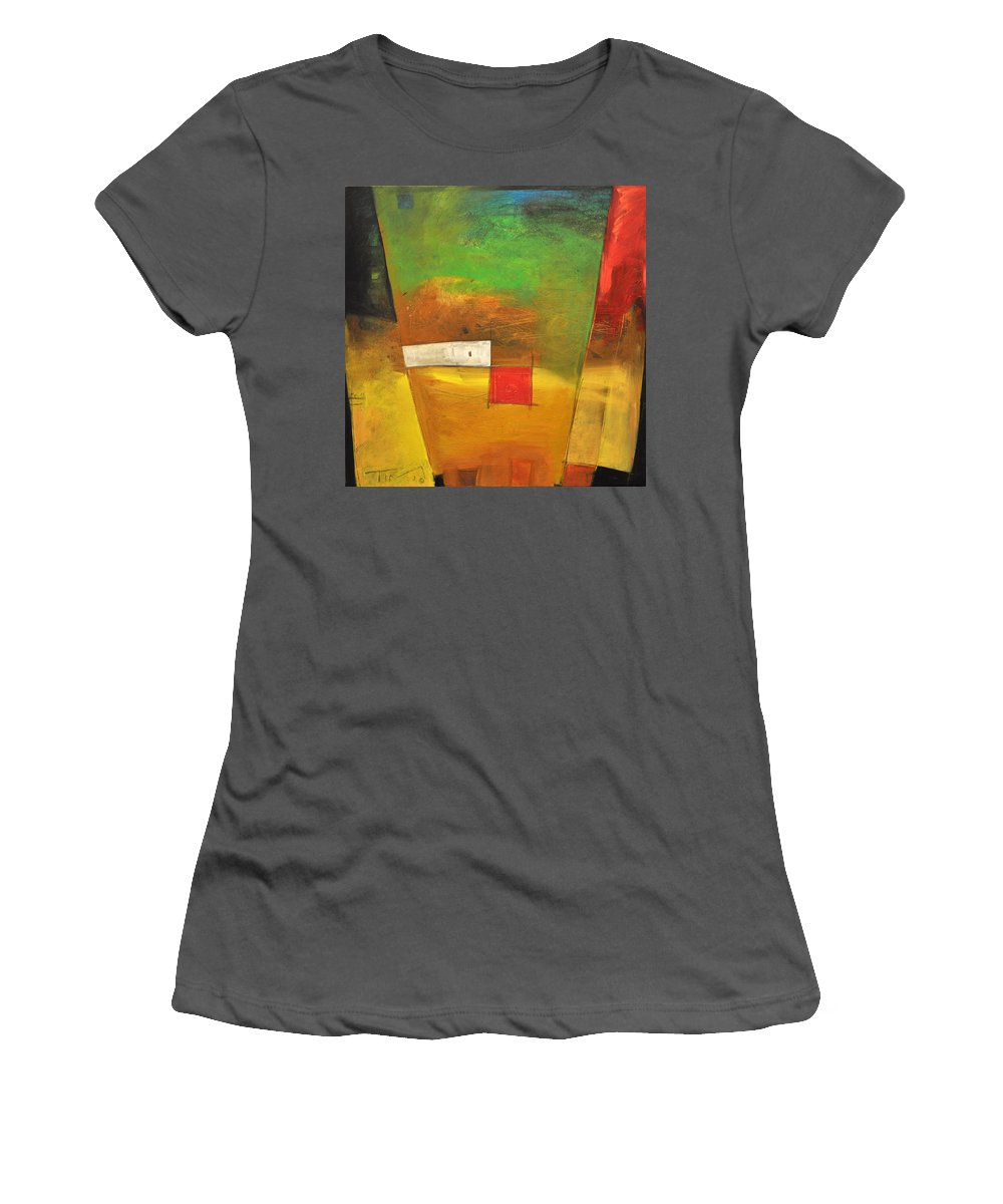 Abstract Women's T-Shirt (Athletic Fit) featuring the painting Larry Mondello by Tim Nyberg