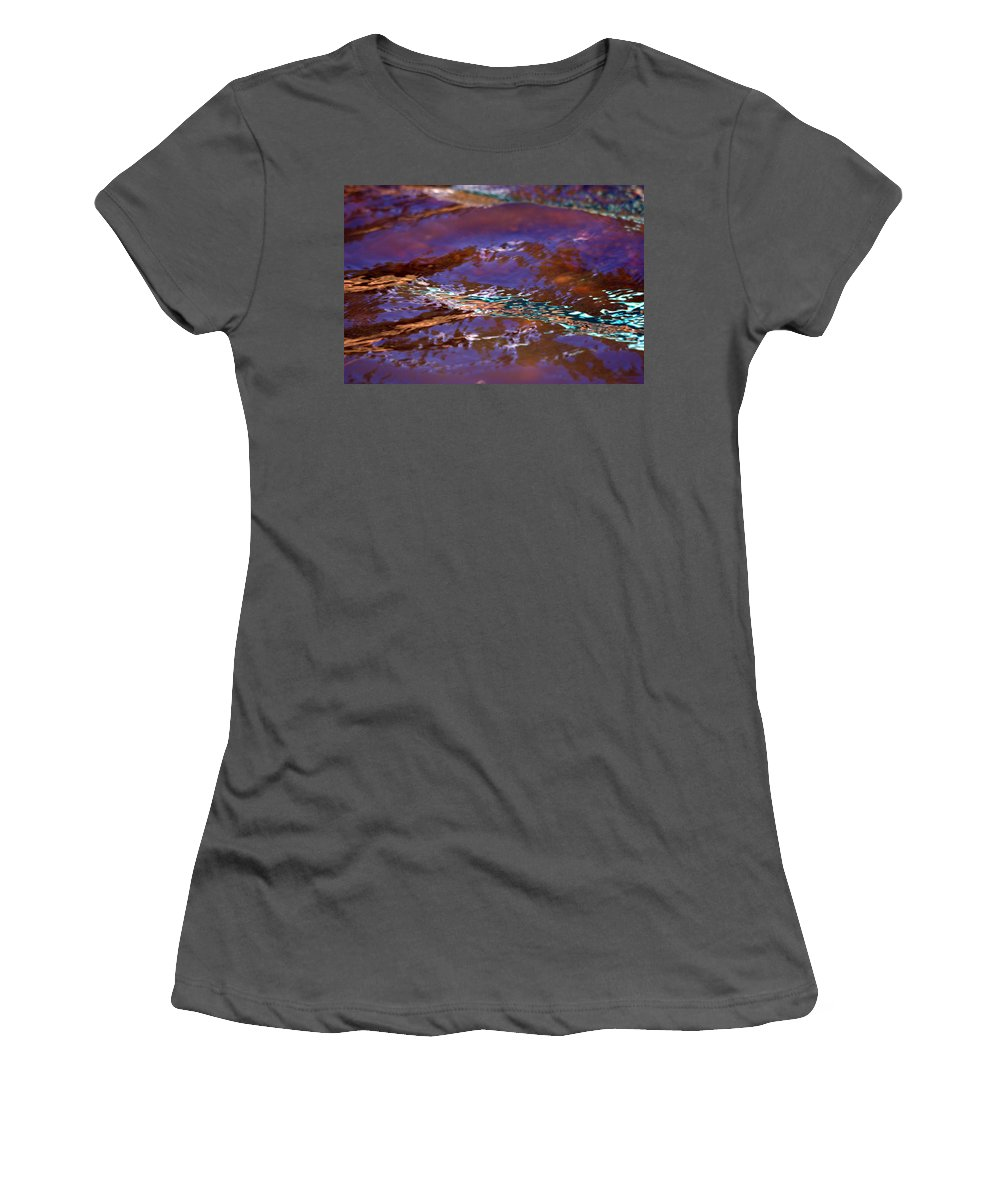 Water Women's T-Shirt (Athletic Fit) featuring the photograph Lavender N Lace by Donna Blackhall