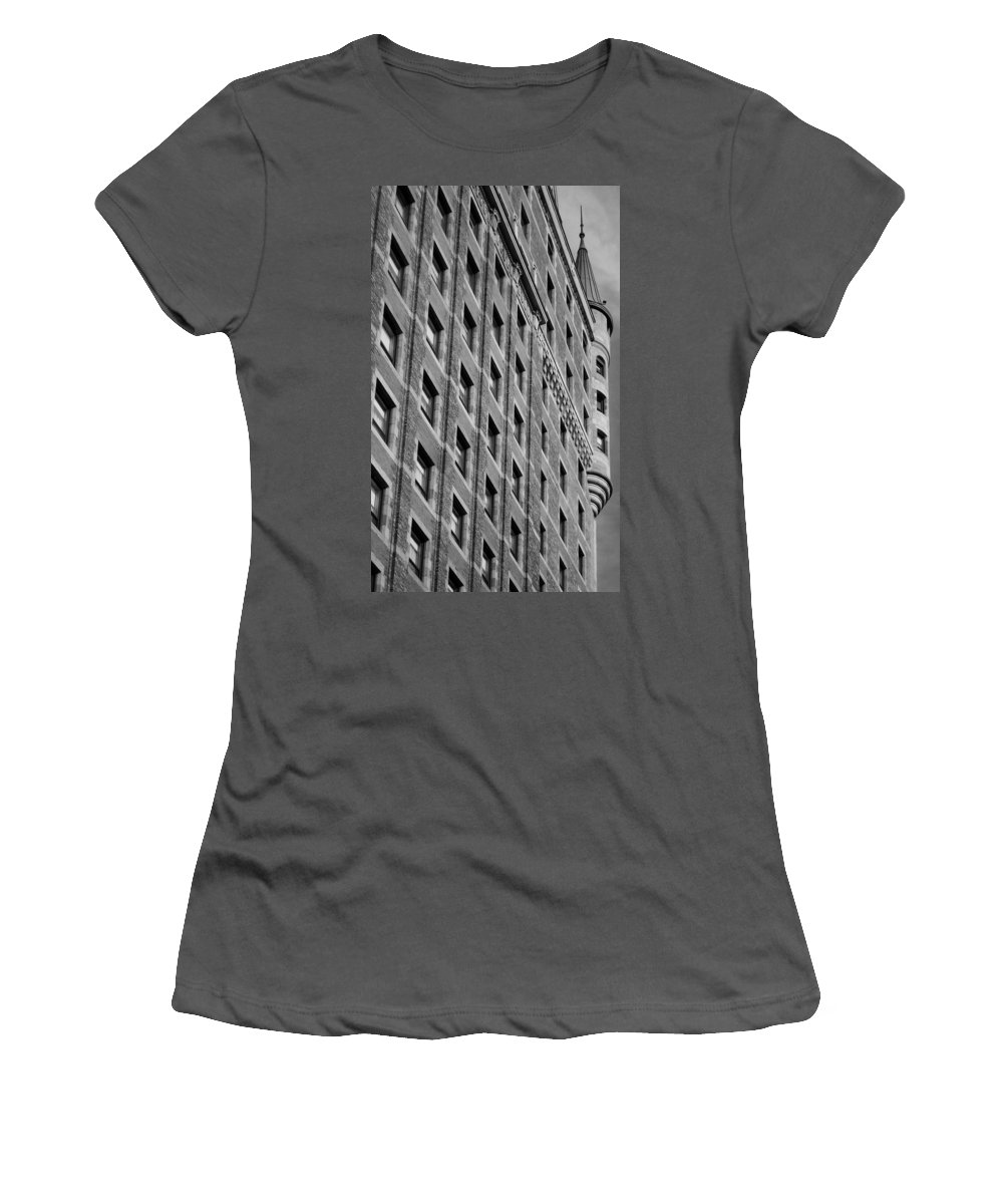 North America Women's T-Shirt (Athletic Fit) featuring the photograph Le Chateau Frontenac by Juergen Weiss
