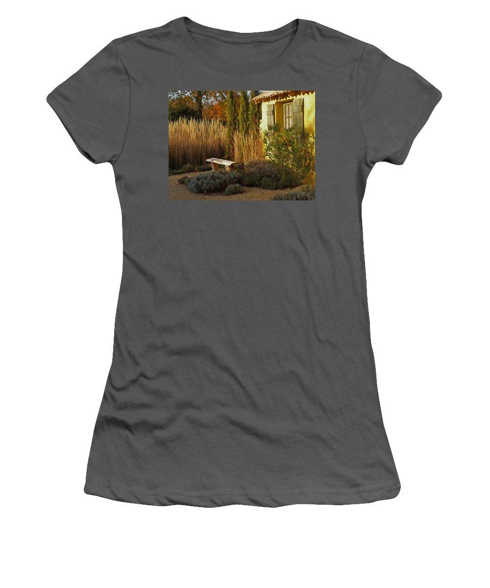 Garden Women's T-Shirt (Athletic Fit) featuring the photograph Le Jardin De Vincent by Bel Menpes