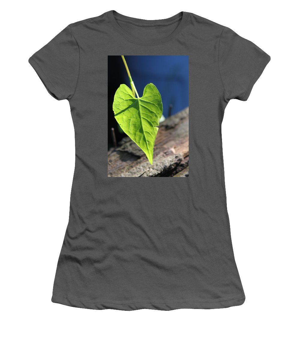 Leaf Women's T-Shirt (Athletic Fit) featuring the photograph Leafy Veins by Lauri Novak