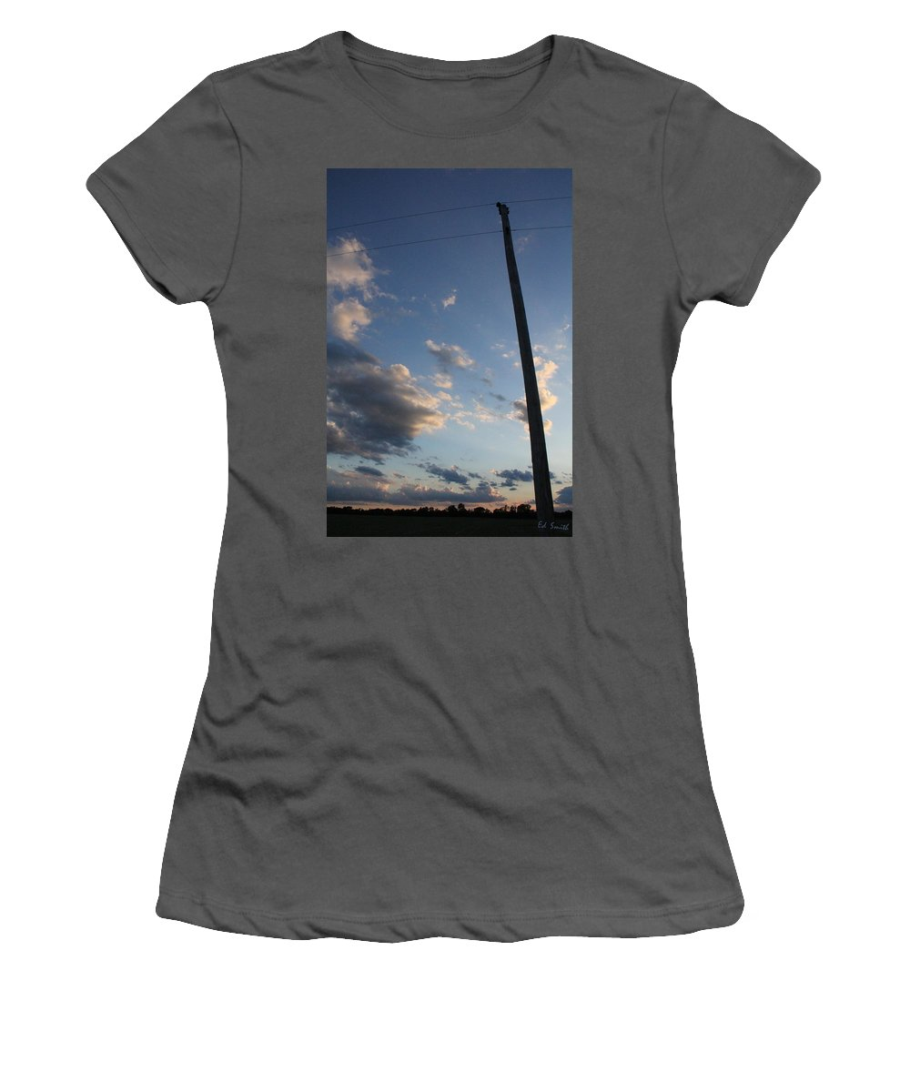 Lean To The Left Women's T-Shirt (Athletic Fit) featuring the photograph Lean To The Left by Ed Smith