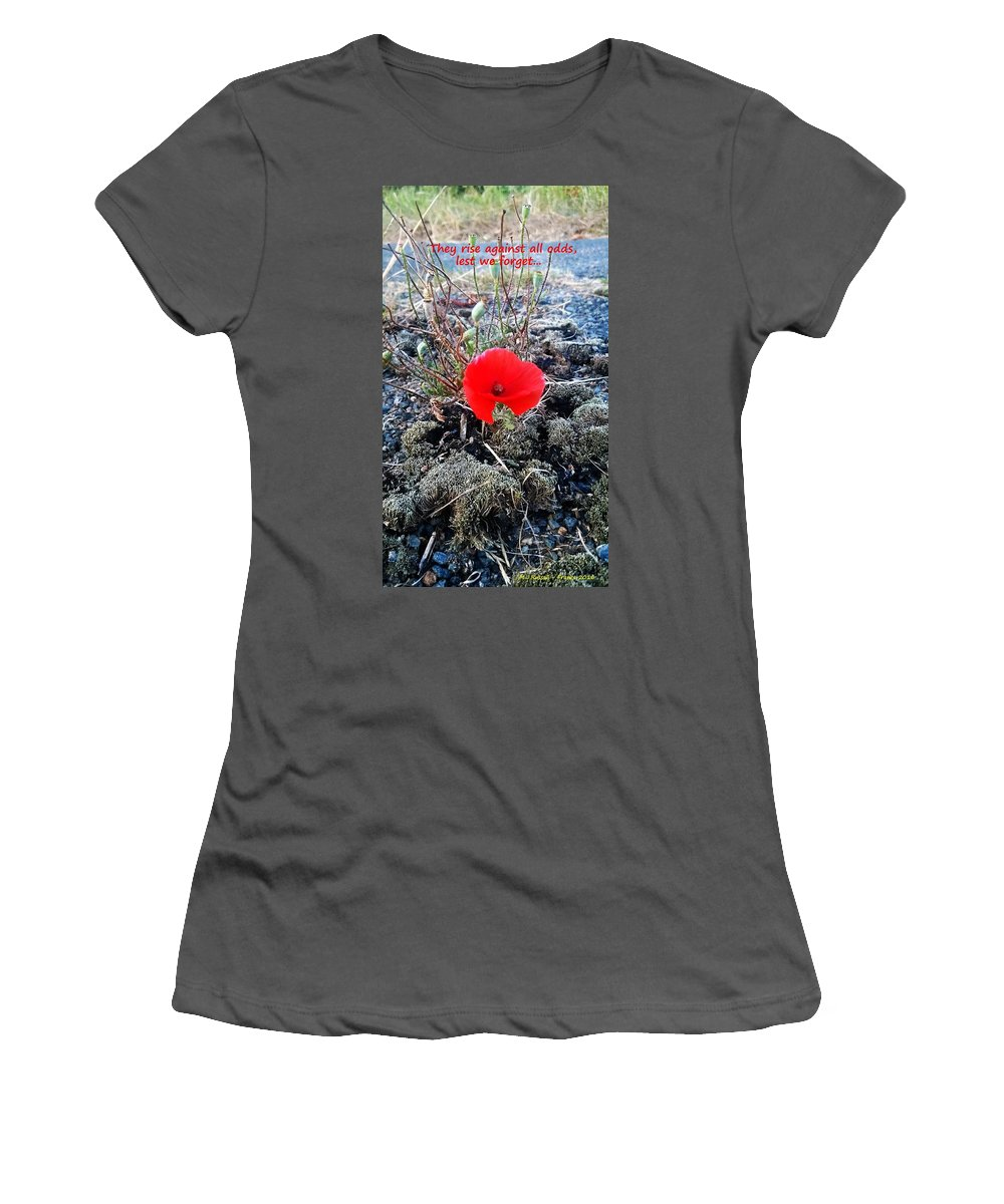 Lest Women's T-Shirt (Athletic Fit) featuring the photograph Lest We Forget by Mike Russell