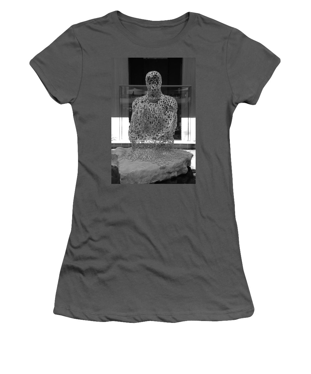 Black And White Women's T-Shirt (Athletic Fit) featuring the photograph Letter Man by Rob Hans