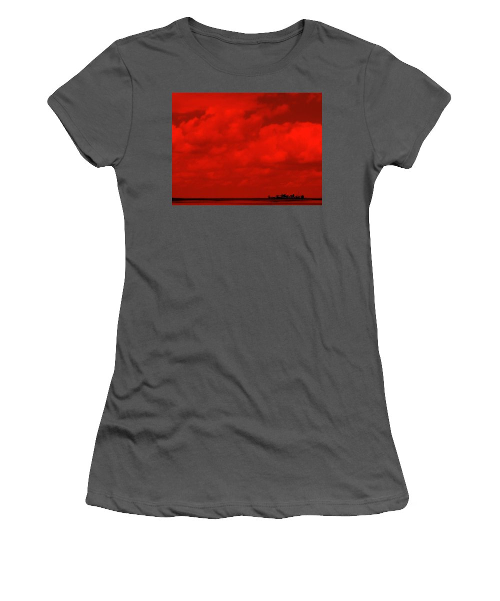 Sky Women's T-Shirt (Athletic Fit) featuring the photograph Life On Mars by Ed Smith