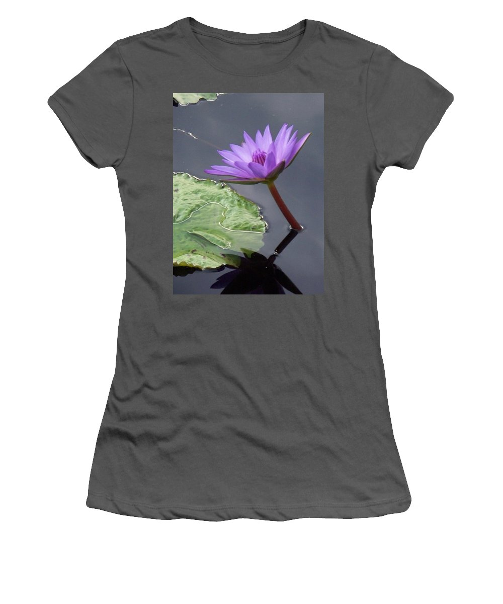 Photograph Women's T-Shirt (Athletic Fit) featuring the photograph Lily Pond by Eric Schiabor