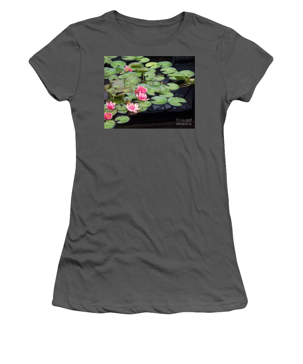 Photograph Women's T-Shirt (Athletic Fit) featuring the painting Lily Pond Monet by Eric Schiabor