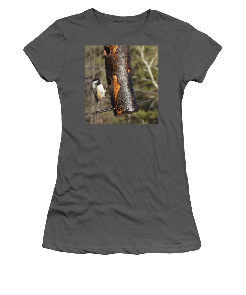 Women's T-Shirt (Athletic Fit) featuring the photograph Little Bird by Line Gagne