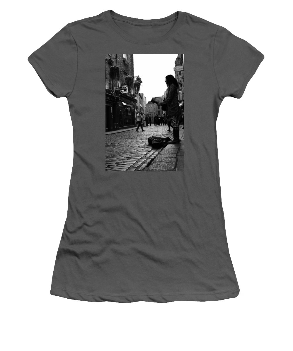 Water Women's T-Shirt (Athletic Fit) featuring the photograph Live by James Fitzpatrick