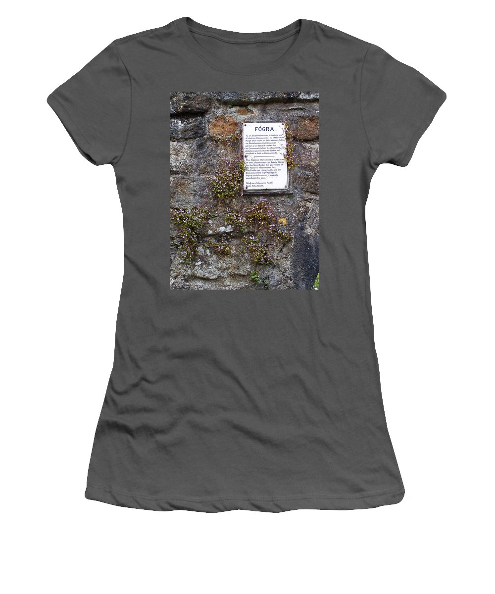 Irish Women's T-Shirt (Athletic Fit) featuring the photograph Living Wall At Donegal Castle Ireland by Teresa Mucha